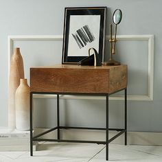 Rustic Storage Side Table - Café #westelm