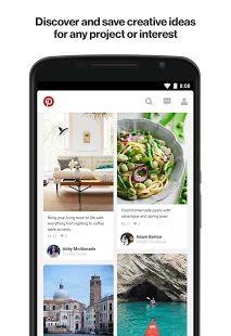 Pinterest – miniatura snímku obrazovky