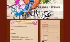 Pop Music Template Blogger