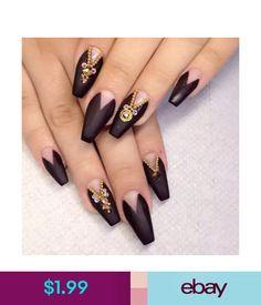 Long Nail Art Tips Coffin Shape Full Cover False Nails Natural Matte Nails, Stiletto Nails, Acrylic Nails, Sexy Nails, Hot Nails, Gorgeous Nails, Pretty Nails, Acrylic Nail Designs, Nail Art Designs