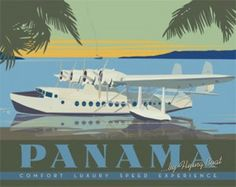 Panama Vintage Travel Poster