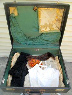 vintage suitcase never unpacked