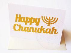 Chanukah Card Happy Chanukah Card Chanukah by SimchaCentralShop