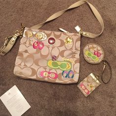 Authentic coach purse Purse, change purse, and ID badge all included. Small stain on inside of purse but not noticeable when carrying. Coach Bags Crossbody Bags