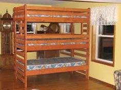 triple deck bunk bed