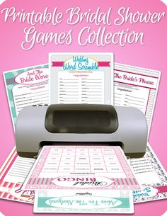 Bridal Shower Games Never boring - not with these games! Fun Bridal Shower games, activities, and icebreakers your guests will actually enjoy. and you can personalize each one for the bride-to-be! Free Bridal Shower Games, Bridal Games, Printable Bridal Shower Games, Wedding Shower Games, Bridal Shower Party, Wedding Games, Bridal Shower Invitations, Wedding Ideas, Wedding Showers