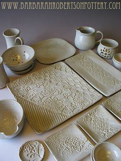 Farmhouse White Pottery Dinnerware BUILD by BRobertsonPottery