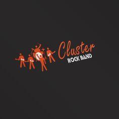 Progettazione logo per rock band musicale.Cluster - RockBand #logo #grafica #graphic #design  @graphiCreation