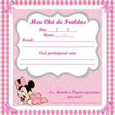 Convites De Chá De Bebê Para Imprimir 64 Modelos Chá Kamila