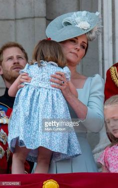 Catherine Duchess of Cambridge and Princess Charlotte of Cambridge during Trooping The Colour 2018 on June 9 2018 in London England