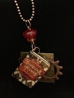 "In my daughter's Etsy store!... Sherlock ""221 B Baker St"" Necklace for Fangirls. $25.80 (FREE shipping via Priority mail)..."