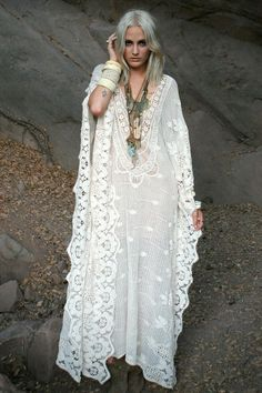 white caftan necklaces