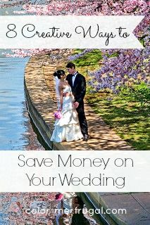 The cost of a typical wedding can easily run in the five figure range. Discover 8 creative ways to save money on your wedding and have a beautiful & memorable day!