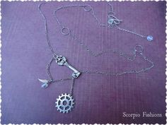 Steampunk Key Necklace  Wrap Necklace  by ScorpioFashions on Etsy