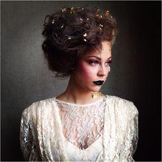 Hair/MUA: Malerie Lawrence/ Model: Maggie McMillan avant Garde bridal shoot