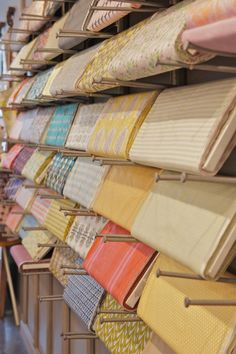 Fabric bolt display at Fabric Nosherie Clever!!!!