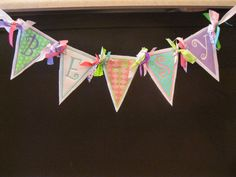 fabric banner - cute lettering