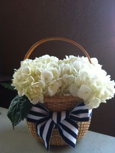 Nantucket Lighship Flower Girl Basket/ Nautical/Beach/Cape Cod/Beach. $22.50, via Etsy.
