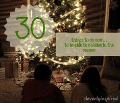 30 Things to do In November to make December less Stressful!