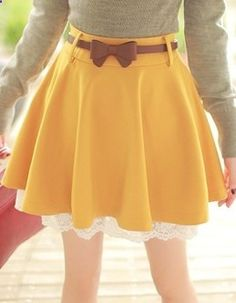 Adorable-not loving the skirt color but ugh that belt is amaaaaaazing