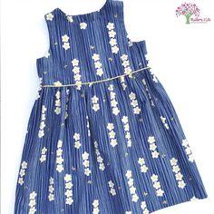 Navy Blossum Tea Party Dress / Mulberry Kids