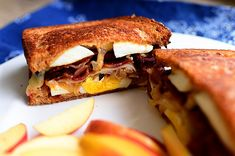 Ultimate Grilled Cheese Sandwich withe eggs, bacon, onions, cheese, and bacon via The Pioneer Women