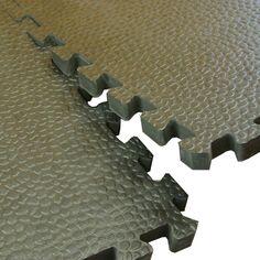 Home Gym Flooring Foam Pebble Mats showing interlock.