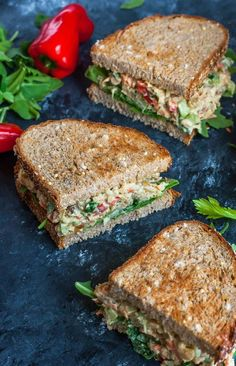 Healthy vegetarian garden veggie chickpea salad sandwiches The post garden . - Healthy Vegetarian Garden Veggie Chickpea Salad Sandwiches The post Garden Veggie Chickpea Salad Sa - Clean Eating Recipes For Dinner, Clean Eating Snacks, Healthy Snacks, Healthy Eating, Healthy Recipes, Vegetarian Sandwich Recipes, Clean Eating Vegetarian, Apple Recipes, Easy Vegan Snack