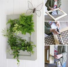 Fabriquer un cadre végétal - tuto