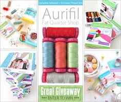 "Sew4Home is hosting a fabulous giveaway opportunity sponsored by Fat Quarter Shop with #Aurifil thread!   ""We interviewed our friends at Fat Quarter Shop, where they've recently introduced their own selection of exclusive Aurifil thread sets, to find out what they love about this thread as well as how they put together their exclusive FQS Master Collection of thread and floss. Plus, we have FOUR amazing sample sets of Fat Quarter Shop's Aurifil collections for FOUR lucky Sew4Home visitors."" ..."