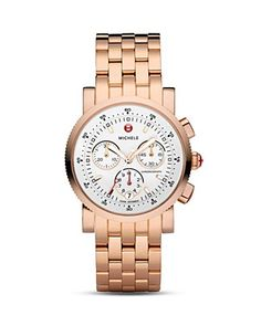 Michele Sport Sail watch in rose gold
