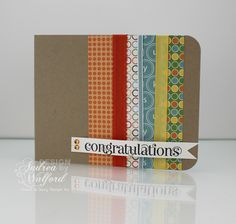 Congratulations Card featuring Stampin' Up!'s Just Add Cake DP and Curly Cute stamp set