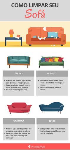 Saiba como limpar seu sofá