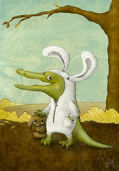 Ei jänistä, puku kanista. Jenny Epäilys. Collage illustration 2015.