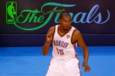 Durant scored 26 of his 32 points in the second half of the Thunder's Game 2 loss. (Getty Images)