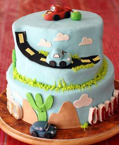 Cars Party Cake #cars #partycake