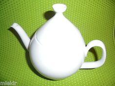 MELITTA-Kaffeekanne-Teekanne-Kanne-weiss-mit-Deckel-f-Kaffee-Tee-usw
