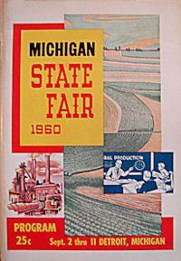 1960 Michigan State Fair program and listing
