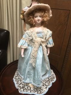 """Lovely 19"""" Antique Bisque Reproduction French Fashion Doll 