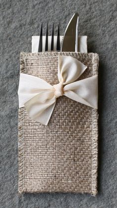 Cream Ribbon Design - so sweet as an added touch to any table setting