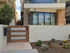 Custom Contemporary Wood and Glass Gate by Garden Passages Garden Gates, Custom Wood, Contemporary, Modern, Curb Appeal, Garden Design, Patio, Doors, Building
