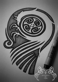 Petroglyph Falcon