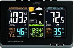 5. La Crosse Technology 308-1414B wireless atomic digital color forecast station with alerts, black