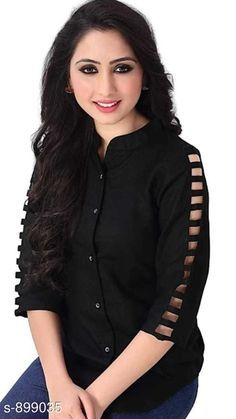Checkout this latest Tops & Tunics Product Name: *Gorgeous Rayon Women's Top* Fabric: Rayon Sleeves: 3/4 Sleeves Are Included Size: XS - 34 in S - 36 in M - 38 in L - 40 in Length: Up to 30 in Type: Stitched Description: It Has 1 Piece Of Women's Top Pattern: Solid Country of Origin: India Easy Returns Available In Case Of Any Issue   Catalog Rating: ★4.1 (3881)  Catalog Name: Hiba Gorgeous Rayon Women's Tops Vol 5 CatalogID_105265 C79-SC1020 Code: 372-899035-756
