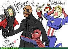 AnimGIF: Spidey wants to join #Avengers