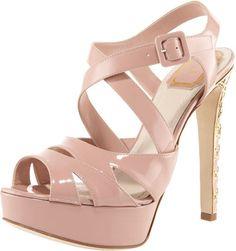 Christian Dior Cannage-Heel Platform Sandal