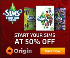 Black Friday sales were not enough right, let's have more sales! Get up to 50% off different The Sims games by clicking the image below!