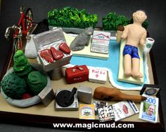 Christmas gift for the man who has it all Christmas Gift Personalized for Dad by http://www.magicmud.com 1 800 231 9814 creating a custom made gift figurine for Dad based on the things he likes to do! ...incorporating his work, sports, family, hobbies, food, drink, electronic gadgets, etc. $225 #dad #men #guys #christmas #birthday #anniversary #custom #personalized #xmas #present #award #ChristmasGift #BirthdayGift #husband #boyfriend #uncle