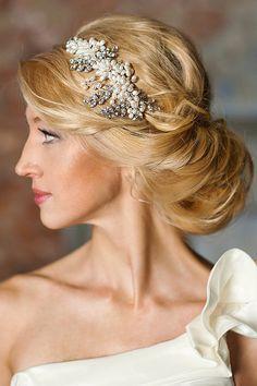 Pearl wedding headband Pearl bridal by FancyBOWtiqueBridal on Etsy