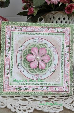 All occasion card designed by Diane Shull using Heartfelt Creations Arianna Blooms collection and Spellbinders Gold Facet and Medallion die. Heartfelt Creations Cards, Beautiful Handmade Cards, Graphic 45, My Scrapbook, Decorative Boxes, Card Making, Bloom, Paper Crafts, Floral
